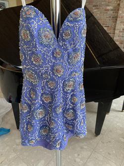 Rachel Allan Purple Size 2 Mini Straight Dress on Queenly