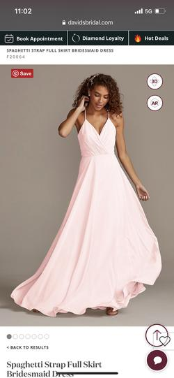 David's Bridal Light Pink Size 2 Bridesmaid A-line Dress on Queenly