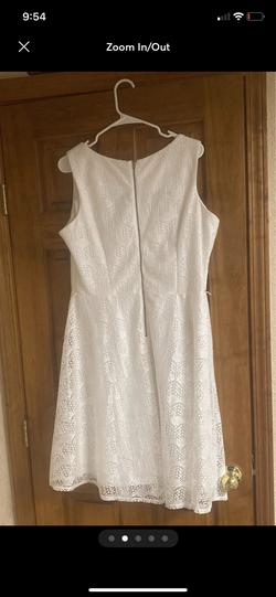 Danny and Nicole White Size 16 Sorority Formal Belt A-line Dress on Queenly