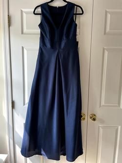 Style D61 Alfred Sung Blue Size 10 Bridesmaid Ball Gown Straight Dress on Queenly