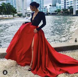 Fernando Wong Red Size 0 Plunge Straight Dress on Queenly