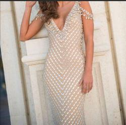 Sherri Hill Nude Size 2 Short Height Custom Straight Dress on Queenly