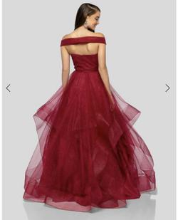 Terani Couture Red Size 2 Prom Ruffles Ball gown on Queenly