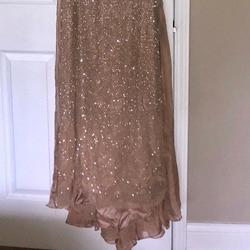 Sherri Hill Nude Size 0 Train Dress on Queenly