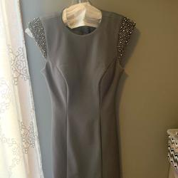 Sherri Hill Silver Size 6 Backless Wedding Guest Cocktail Dress on Queenly