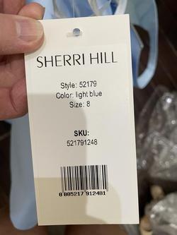 Style 52179 Sherri Hill Blue Size 8 Pageant Cocktail Dress on Queenly
