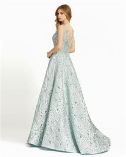 Style 40996 Mac Duggal Blue Size 4 Tall Height Ball gown on Queenly