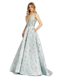 Style 40996 Mac Duggal Blue Size 8 Tall Height Ball gown on Queenly
