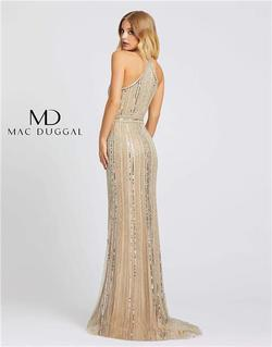 Style 40994 Mac Duggal Nude Size 6 Tall Height Wedding Guest Straight Dress on Queenly
