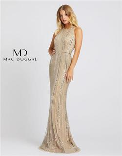 Style 40994 Mac Duggal Nude Size 16 Tall Height Wedding Guest Straight Dress on Queenly