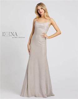 Style 26330 Mac Duggal Silver Size 6 Sorority Formal Tall Height Wedding Guest Straight Dress on Queenly