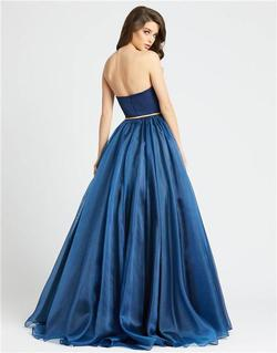 Style 25943 Mac Duggal Blue Size 12 Plus Size Tall Height Ball gown on Queenly