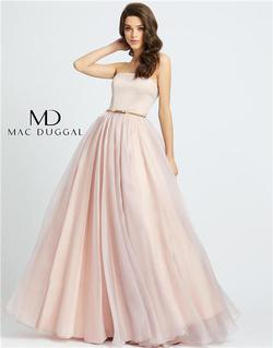 Style 25943 Mac Duggal Pink Size 14 Tall Height Ball gown on Queenly