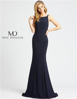 Style 25220 Mac Duggal Blue Size 8 Tall Height Wedding Guest Straight Dress on Queenly