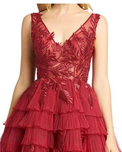 Style 20136 Mac Duggal Red Size 6 Pageant Tall Height Ball gown on Queenly
