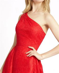 Style 12363 Mac Duggal Red Size 12 One Shoulder Tall Height A-line Dress on Queenly