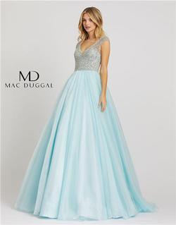 Style 12266 Mac Duggal Blue Size 16 Tall Height Ball gown on Queenly