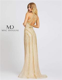 Style 5100 Mac Duggal Gold Size 4 Sorority Formal Tall Height Mermaid Dress on Queenly
