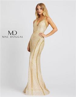 Style 5100 Mac Duggal Gold Size 14 Sorority Formal Tall Height Mermaid Dress on Queenly