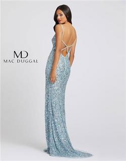 Style 5015 Mac Duggal Blue Size 0 Tall Height Wedding Guest Side slit Dress on Queenly