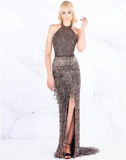 Style 4806 Mac Duggal Black Size 4 Backless Tall Height Side slit Dress on Queenly