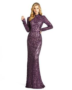 Style 4729 Mac Duggal Purple Size 2 Pageant High Neck Mermaid Dress on Queenly