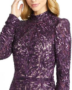 Style 4729 Mac Duggal Purple Size 10 Pageant High Neck Mermaid Dress on Queenly