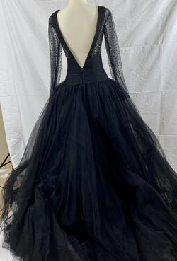 La Femme Black Size 0 Long Sleeve Vintage Ball gown on Queenly