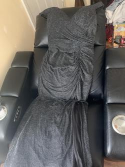 Clarisse Black Size 18 Side slit Dress on Queenly