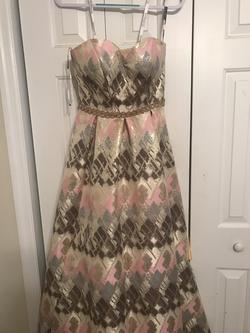 Flair Multicolor Size 4 Prom Print Ball gown on Queenly