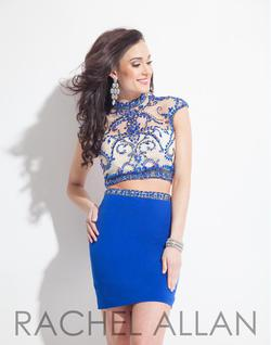 Style 3994RA Rachel Allan Royal Blue Size 6 Bodycon Cocktail Dress on Queenly