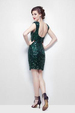 Style 9883 Primavera Green Size 10 Mini Sorority Formal Tall Height Cocktail Dress on Queenly