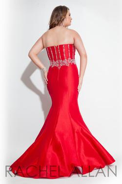 Style 7430 Rachel Allan Red Size 14 Pageant Halter Tall Height Mermaid Dress on Queenly