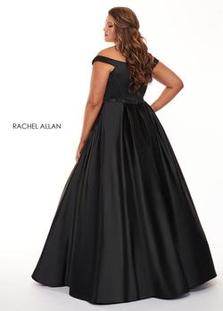Style 6670 Rachel Allan Black Size 26 Pageant Jersey Silk Ball gown on Queenly