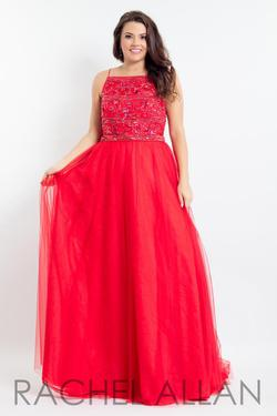 Style 6337 Rachel Allan Red Size 14 Pageant Tall Height A-line Dress on Queenly