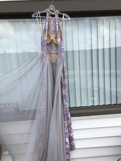 Mac Duggal Purple Size 4 Train Straight Dress on Queenly