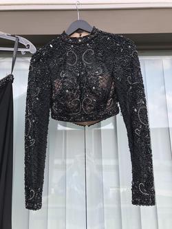 Rachel Allan Black Size 0 Long Sleeve Sleeves Straight Dress on Queenly