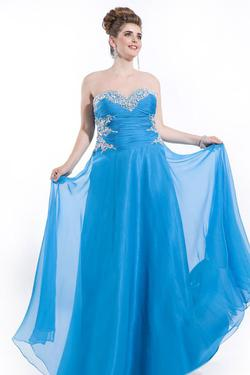 Style 6601 Rachel Allan Blue Size 22 Turquoise Pageant A-line Dress on Queenly