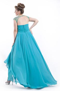 Style 6626 Rachel Allan Blue Size 22 Pageant Teal A-line Dress on Queenly