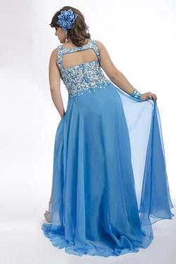Style 6245 Rachel Allan Blue Size 26 Turquoise Pageant A-line Dress on Queenly
