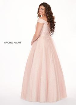 Style 6663 Rachel Allan PInk Size 14 Plus Size Pageant Jewelled A-line Dress on Queenly