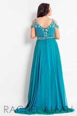 Style 6313 Rachel Allan Green Size 28 Pageant Tall Height A-line Dress on Queenly