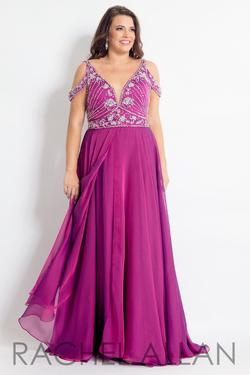 Style 6313 Rachel Allan Pink Size 24 Plus Size Pageant Magenta A-line Dress on Queenly