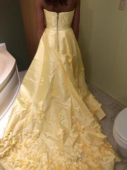 Sherri Hill Yellow Size 2 Train Strapless Pageant Side slit Dress on Queenly