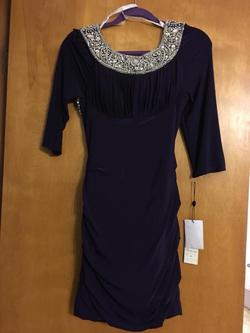 Sherri Hill Purple Size 4 Cocktail Dress on Queenly