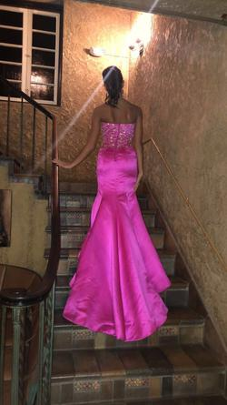 Sherri Hill Hot Pink Size 0 Beaded Top Pageant Mermaid Dress on Queenly