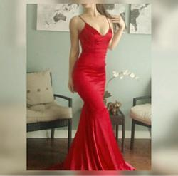 Portia & Scarlett Red Size 2 Homecoming Backless Wedding Guest Mermaid Dress on Queenly