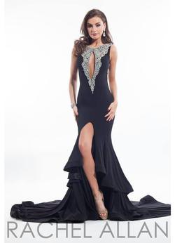 Rachel Allan Black Size 6 Straight Tall Height Mermaid Dress on Queenly