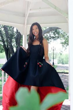 Sherri Hill Black Size 4 Tall Height Train Dress on Queenly