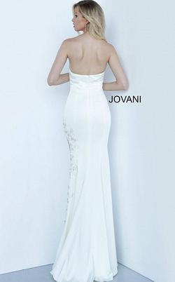 Jovani White Size 00 Wedding Prom Side slit Dress on Queenly